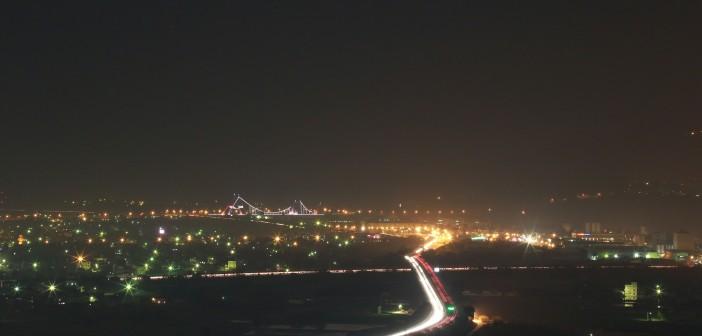 栗丘民宿的夜景